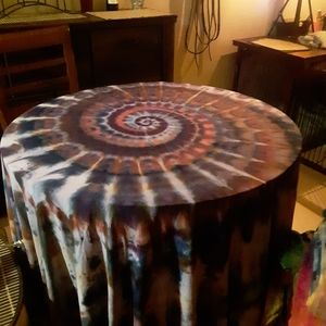 Target Kitchen - Tie dye Target round table cloth made by me